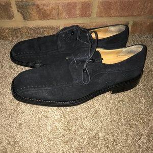 Mezlan Men's Black Suede Dress Shoes